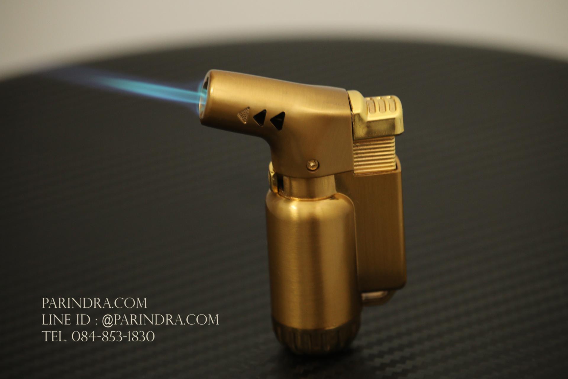 ไฟแช็คแก็ส Boku แคปซูลแบบบอดี้โลหะ ร้อนสูง 1300 องศาเซลเซียส สีทอง