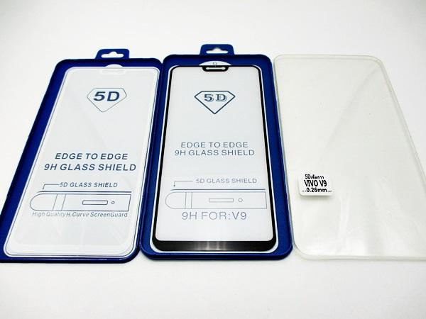 5D ฟิล์มกระจก (VIVO V9) กาวเต็มแผ่น เต็มจอ