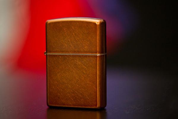 """ไฟแช็ค Zippo แท้ ลายสีทองแดงขีดข่วน """"Toffee Finish Lighter"""" #21184 แท้นำเข้า 100%"""