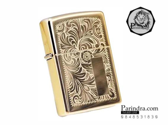 """ไฟแช็ค Zippo แท้ """" Zippo 352B, Venetian Design High Polish Brass """" แท้นำเข้า 100%"""
