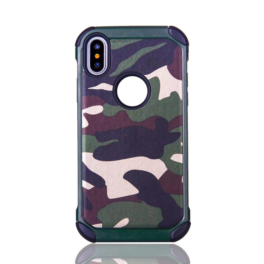 เคส iPhone X กันกระแทกสองชั้นลายทหาร