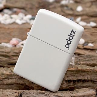 """ไฟแช็ค Zippo แท้ """" Zippo 214ZL Logo White Matte Finish Lighter """" แท้นำเข้า 100%"""