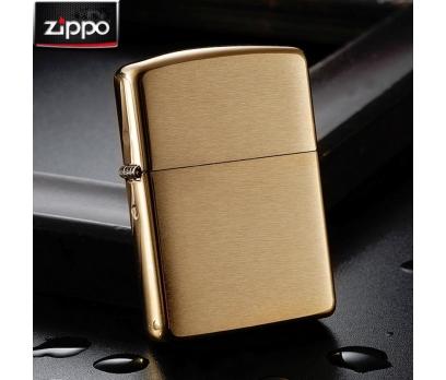 """ไฟแช็ค Zippo แท้ สีทองอร่าม """" Zippo 168 Armor Case, Brushed Brass Finish Lighter """" แท้นำเข้า 100%"""