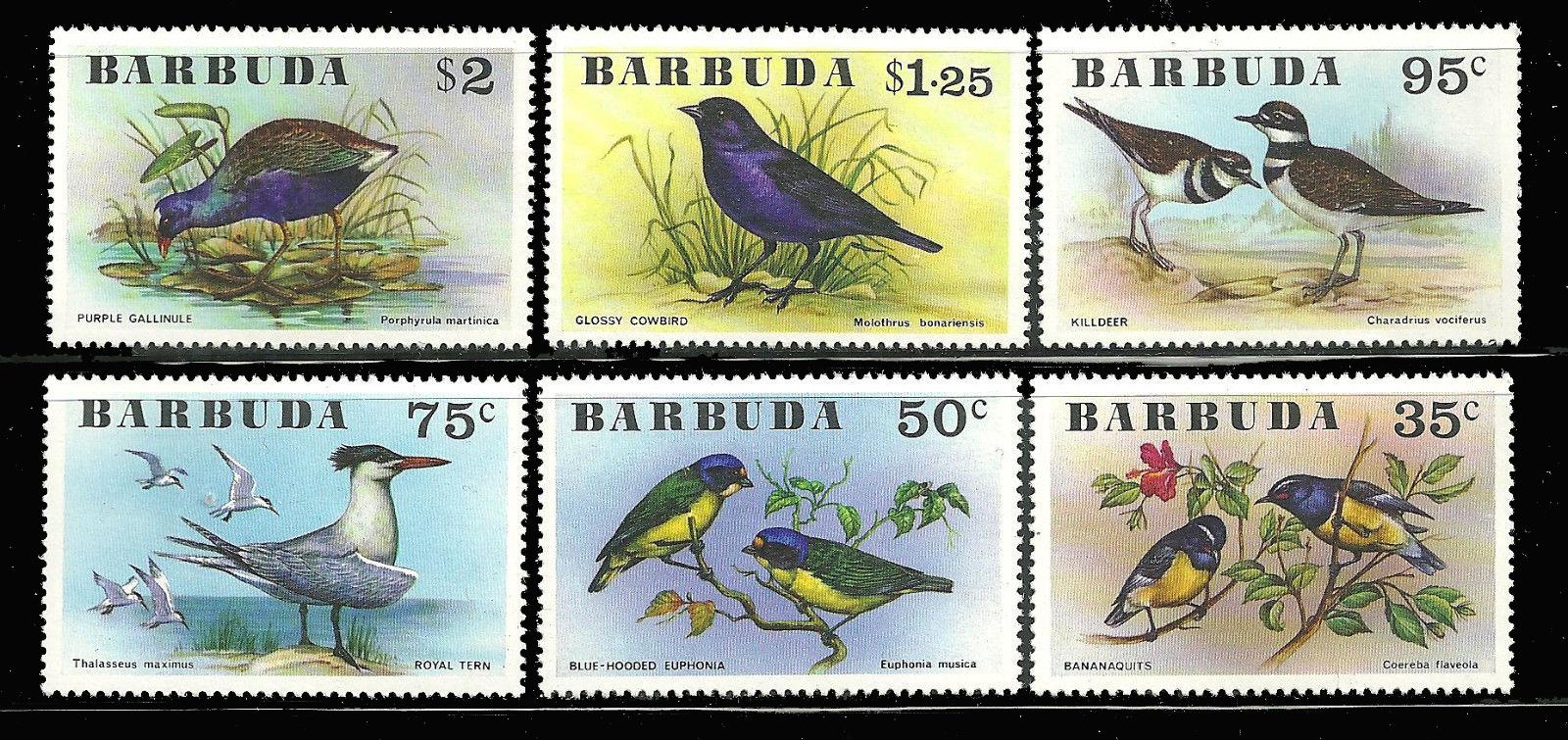 แสตมป์ แอนติกา บาบูด้า ชุด Birds นกนานาพันธุ์ ปี 1976 - Antigua and Barbuda