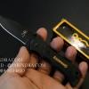 มีดพับ Browning ขนาดเล็กสำหรับพกพา สีดำสนิท ด้ามไม้ (OEM)