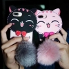ไอโฟน74.7 นิ้ว เคสtpuแมวดำห้อยขนเฟอร์(ใช้ภาพรุ่นอื่นแทน)