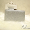 พร้อมส่ง Evening Clutch กระเป๋าออกงาน สีเงิน ทรงสี่เหลี่ยม สะท้อนแสง มาพร้อมสายสะพายสั้น/ยาว