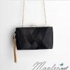 พร้อมส่ง Evening Clutch กระเป๋าออกงาน สีดำ แบบหรู ตัวกระเป๋าเป็นแบบสาน จับถนัดมือ (พร้อมสายโซ่)