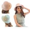 [พร้อมส่ง] H6055 หมวกสาน หมวกไปทะเล ตกแต่งด้วยริบบิ้นผ้าผูกเป็นโบสองชั้น สาวหวานห้ามพลาด Sweet Hat for Sweet Lady
