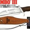 มีดเดินป่าใบตาย RAMBO llI แรมโบ้ 3 First Blood สุดโหด (สีเงิน)