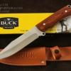 มีดใบตาย BUCK สันหนา ด้ามไม้ 440C Steel Blade Camping A22 (OEM)