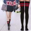 [พร้อมส่ง] S7825 ถุงเท้าดำแดง สไตล์เกาหลี มีทั้งแบบยาวเหนือเข่าและสั้นปกติค่ะ
