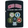 """ไฟแช็ค Zippo แท้ Us Army 5 เหล่าทัพ """"Zippo 28898 United States Armed Forces"""" แท้นำเข้า 100%"""
