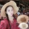 [พร้อมส่ง] H6012 หมวกสาน / หมวกไปทะเล หมวกปีกว้าง ใบโต บังแดด ตกแต่งด้วยเชือกรอบหมวก เก๋ๆ ค่ะ