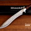 มีดกรูข่า BlackFox Kukri Damuscus Laser Veins Pattern Knife ขนาด 17.5 นิ้ว