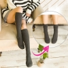 [พร้อมส่ง] S7584 ถุงเท้ายาวครึ่งแข้ง สีล้วน สไตล์ญี่ปุ่น สุดน่ารัก Japan Cute Sock