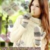 [พร้อมส่ง] G6638 ถุงมือกันหนาว แบบถุงมือสโนว์แมน ทอลายเกล็ดหิมะ สุดน่ารัก