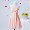 พร้อมเช่า ชุดราตรีสั้น สีชมพูอ่อน ชุดเพื่อนเจ้าสาว Pink-001C