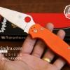 มีดพับ Spyderco รุ่น Paramilitary 2 ด้าม G10 สีส้ม ขนาด 8 นิ้ว (OEM) A+