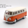 โมเดลรถเหล็ก รถตู้โฟล์ค รถเต่า Volksawagen Classical bus 1962 สีส้ม