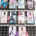 เคส Huawei Mate 8 ซิลิโคน soft case สกรีลายน่ารักๆ พร้อมแหวานมือถือและสายคล้องเข้าชุดกัน ราคาถูก
