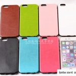 case iphone 6 plus (5.5) พลาสติกประกับหนังเทียมสีพื้น เรียหรู ไฮโซ ราคาส่ง ราคาถูก