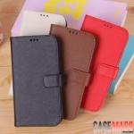 เคส S4 Case Samsung Galaxy S4 i9500 เคสกระเป๋าหนังฝาพับข้าง เรียบหรูดูดี สามารถตั้งได้ ใส่บัตรได้ protective sleeve mobile phone sets cross pattern protective cover Business holster