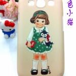 เคส Samsung S3 เคสลายตุ๊กเด็กน่ารักๆ แนวยุโรป Cute British doll series Romantic idea of the blue doll