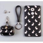 เคส Huawei Mate 8 พลาสติก TPU ลายกระต่ายน่ารัก พร้อมสายคล้องมือและกระเป๋าเก็บสายหูฟัง ราคาถูก