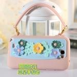 เคส Note 2 กระเป๋าถือประดับดอกไม้ มีสายคล้องมือ ทำจากซิลิโคนนิ่มๆ ไม่ทำให้ตัวเครื่องเป็นรอย สวยๆ น่ารักๆ