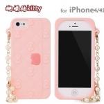 case iphone 4/4s เคสไอโฟน4/4s Sanrio hello kitty my melody กระเป๋าถือมีสายคล้องมือ น่ารักๆ