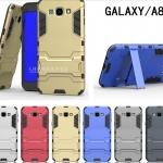 Case Samsung Galaxy A8 เคสกันกระแทกแยกประกอบ 2 ชิ้น ด้านในเป็นซิลิโคนสีดำ ด้านนอกพลาสติกเคลือบเงาโลหะเมทัลลิค มีขาตั้งสามารถตั้งได้ สวยมากๆ เท่สุดๆ ราคาถูก ราคาส่ง
