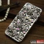 case iphone 5 เคสไอโฟน5 เคสแนวจัดเต็ม 3D เคสโลหะเงินเงาๆ ประดับด้วยหัวกะโหลกเงิน เพชรคริสตัลสี สวยงาม เว่อร์สุดๆ หรูหรา สวยๆ แนวๆ protective shell plating metal skull diamond luxury crystal