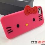 case iphone 5 เคสไอโฟน5 เคสซิลิโคนนิ่มๆทรงคิตตี้น่ารักมากมีหลายสี Hello Kitty 3D