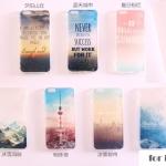 case iphone 5s / 5 ซิลิโคน TPU สกรีนลายแสนหวาน หอไอเฟล ก้อนเมฆ ราคาส่ง ขายถูกสุดๆ