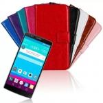 เคส LG G4 แบบพับหนังเทียมสีสันสดใส สีพาสเทล สีเข้มขรึม ราคาถูก