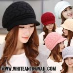 [พร้อมส่ง] H6525 หมวกแกปไหมพรมกันหนาว ดีไซน์เก๋ๆ สไตล์เกาหลี ใส่ได้ทั้งชายหญิง Rabbit fur hat
