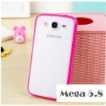 Case Samsung Galaxy Mega 5.8 เคสขอบซิลิโคน ด้านหลังโปร่งแสง ขุ่นๆ ใส่แล้วสวยมากๆ เคสมือถือ ราคาถูก ขายปลีก ขายส่ง