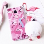เคส Huawei G7 Plus พลาสติกลายนกฟลามิงโกน่ารักมาก พร้อมที่ห้อยเข้าชุด ราคาถูก