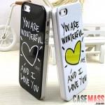 case iphone 5 เคสไอโฟน5 graffiti couple ลายหัวใจกับน้องหมาลายเส้นน่ารัก