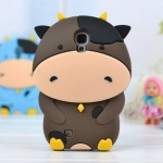 เคสซัมซุง S4 Case Samsung Galaxy S4 i9500 เคสซิลิโคน 3D รูปวัวนม โคนม น่ารักๆ