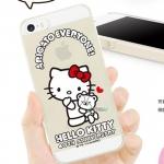 เคสไอโฟน4 case iphone 4s คิตตี้ เคสพลาสติกโปร่งแสงแบบบางลาย Hello Kitty น่ารักๆ 40th Anniversary Edition kitty