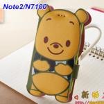 Case Samsung Galaxy Note 2 ฝาพับหมีพูห์ ทรงเป็นรูปตัวหมี pooh ด้านในเป็นซิลิโคนนิ่มๆ พับตั้งได้ น่ารักสุดๆ เคสมือถือราคาถูกขายปลีกขายส่ง -B-