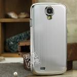 case S4 เคส Samsung Galaxy S4 i9500 เคสโลหะเงาๆ มีลายเส้นโลหะขอบมน มีแผ่นกันรอยอยู่ที่ด้านในเคส สวยสุดๆ back brushed metal border Plating on Plastics