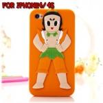case iphone 4/4s เคสไอโฟน4/4s calabash brothers เคสซิลิโคนลายการ์ตูน
