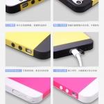 เคสไอโฟน5s / 5 เคสซิลิโคน TPU สีทูโทน มีจุกปิดกันฝุ่นในตัว มี 2 ชั้น ด้านนอกหุ้มแผ่นหลังพลาสติก สลับสีสวยๆ แนวๆ