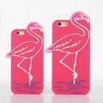 Case iPhone 6s, iPhone 6 (4.7 นิ้ว) ซิลิโคน TPU 3 มิติ นกฟามิงโก แสนน่ารัก สุดฮิต ราคาถูก