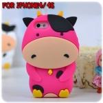 case iphone 4/4s เคสไอโฟน4/4s เคสซิลิโคน 3D วัวนม โคนม น่ารักๆ