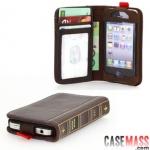 case iphone 4s เคสไอโฟน4s เคสกระเป๋าหนังทำเป็นหนังสือตำราเวทย์มนต์เก่าๆ เท่ๆ ใส่บัตรได้ holster protective sleeve retro books iPhone4s bookbook for iphone
