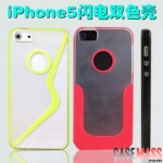 case iphone 5 เคสไอโฟน5 เคสใสคาดลายสปอร์ดมีช่องโชว์โลโก้ขอบนุ่ม two-color shell TPU border